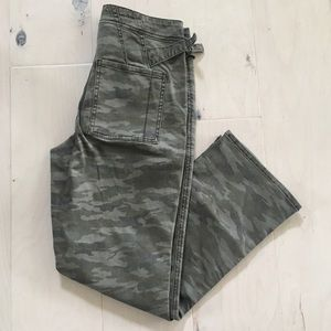 Anthropologie camo ankle pants